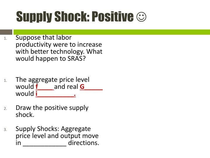 Supply Shock: Positive