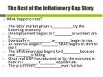 the rest of the inflationary gap story