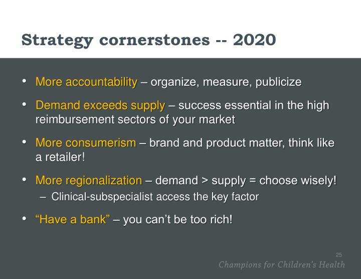 Strategy cornerstones -- 2020