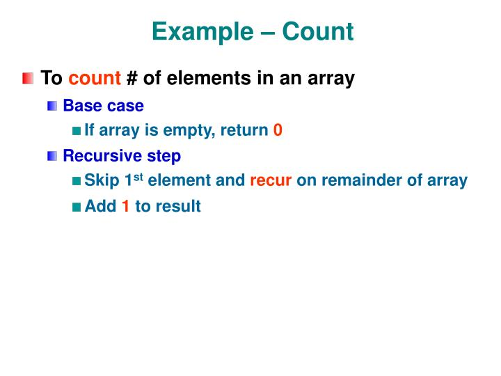 Example – Count