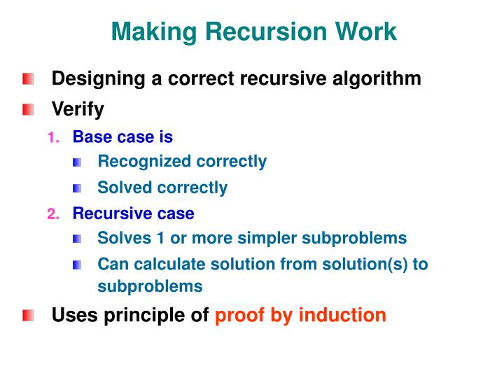 Making Recursion Work