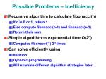 possible problems inefficiency1