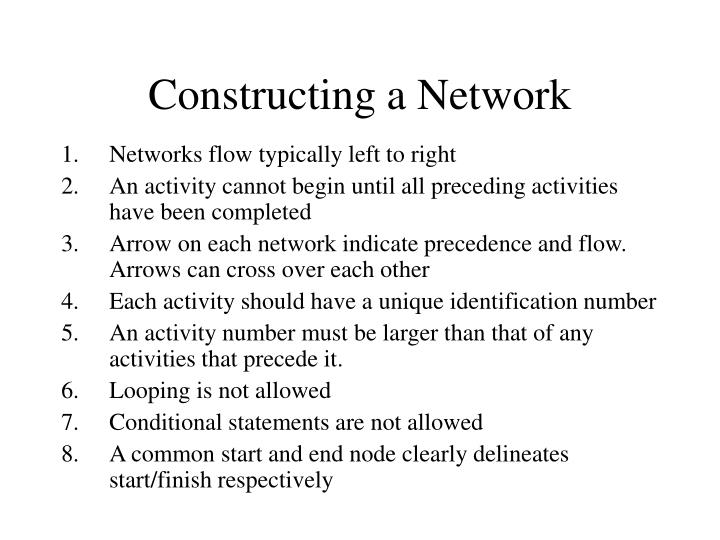 Constructing a Network