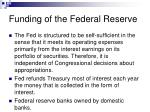 funding of the federal reserve