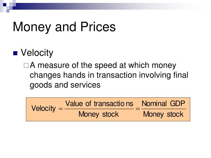 Money and Prices