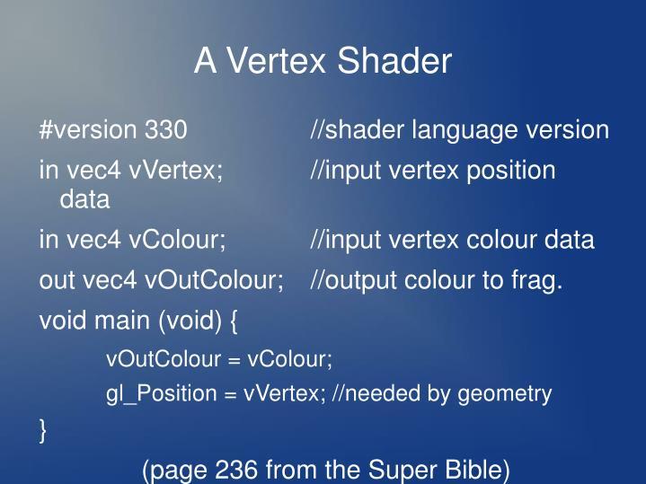 A Vertex Shader