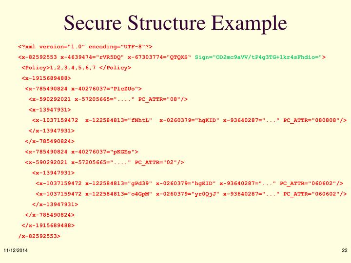 Secure Structure Example