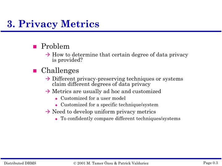 3. Privacy Metrics
