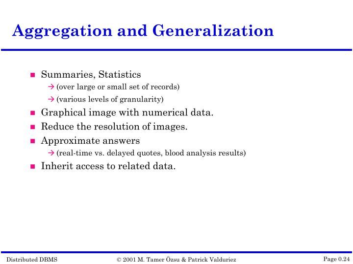 Aggregation and Generalization