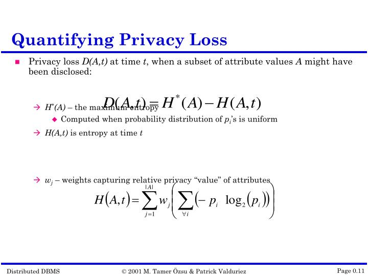 Quantifying Privacy Loss