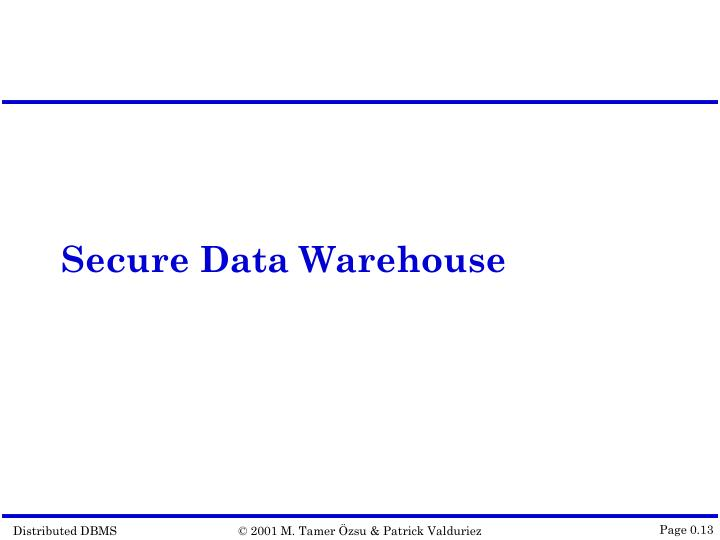 Secure Data Warehouse