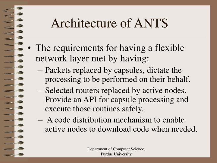 Architecture of ANTS