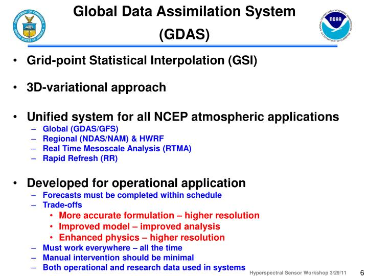 Global Data Assimilation System (GDAS)