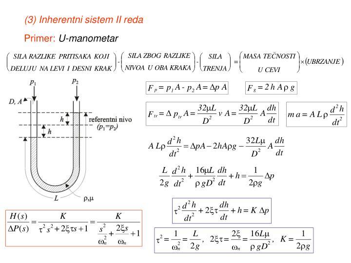 (3) Inherentni sistem II reda