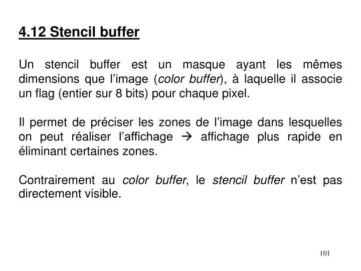 4.12 Stencil buffer