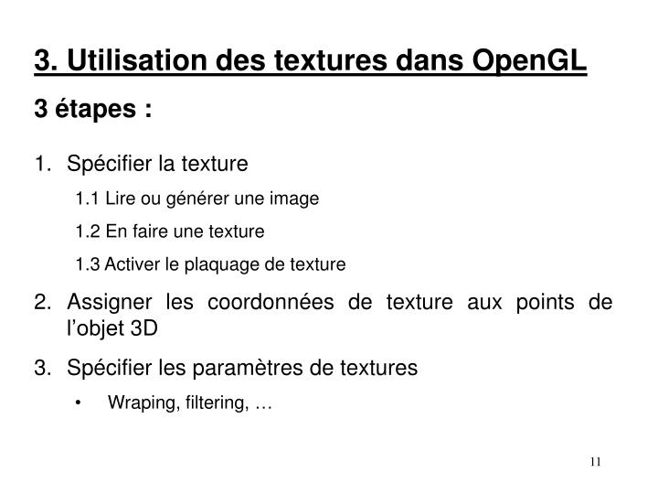 3. Utilisation des textures dans OpenGL