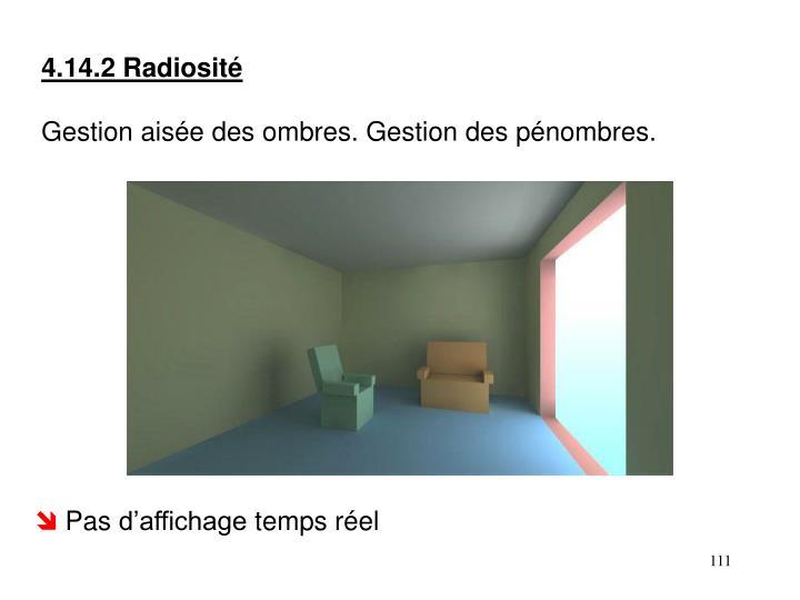 4.14.2 Radiosité