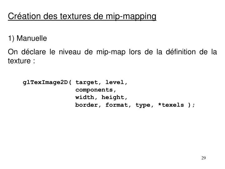 Création des textures de mip-mapping