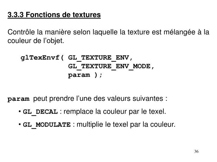 3.3.3 Fonctions de textures