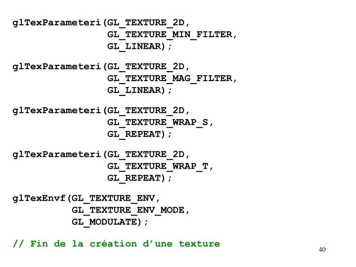 glTexParameteri(GL_TEXTURE_2D,