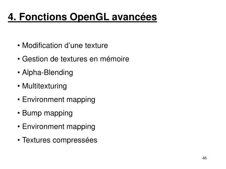 4. Fonctions OpenGL avancées