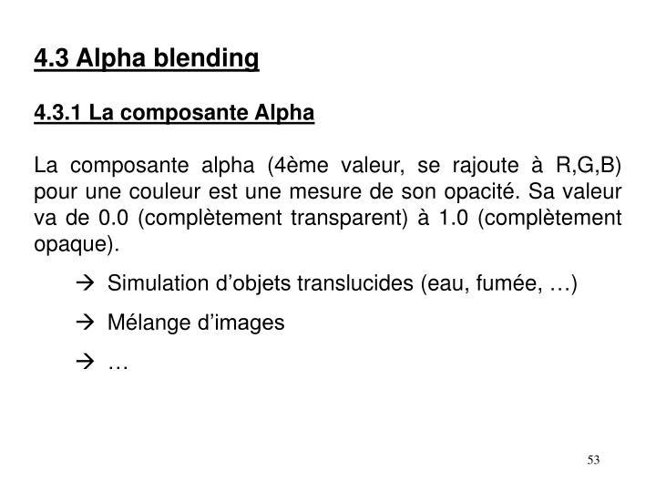 4.3 Alpha blending