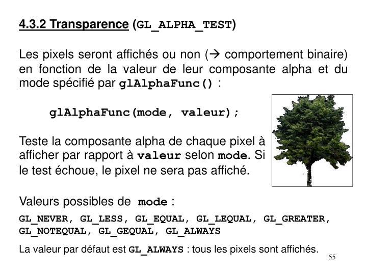 4.3.2 Transparence
