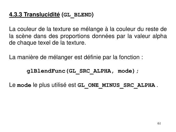 4.3.3 Translucidité