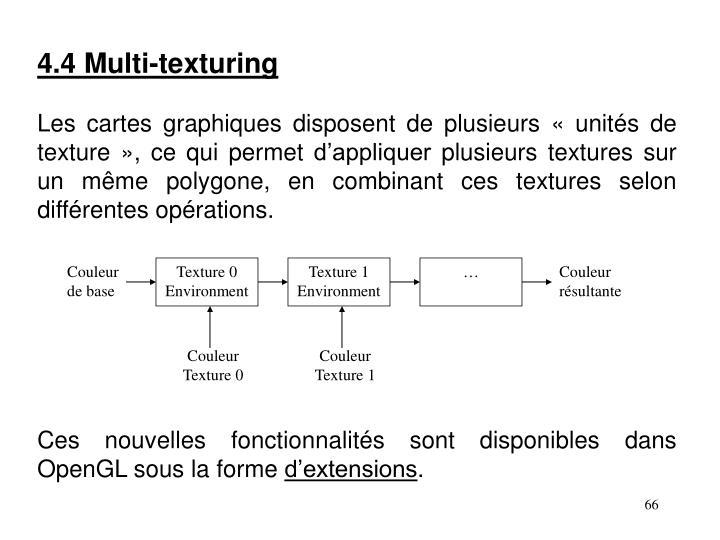 4.4 Multi-texturing