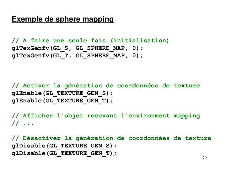 Exemple de sphere mapping