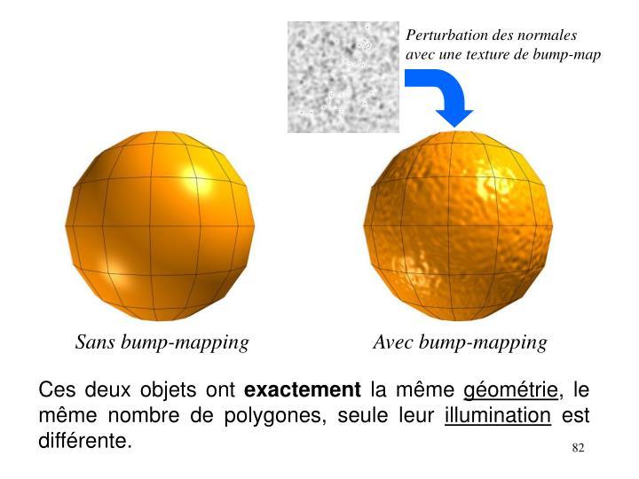 Perturbation des normales avec une texture de bump-map