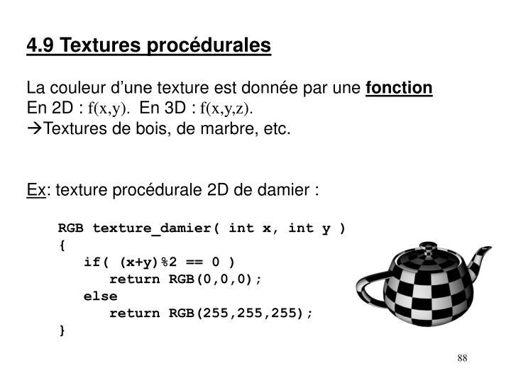 4.9 Textures procédurales