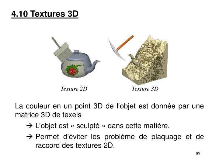 4.10 Textures 3D