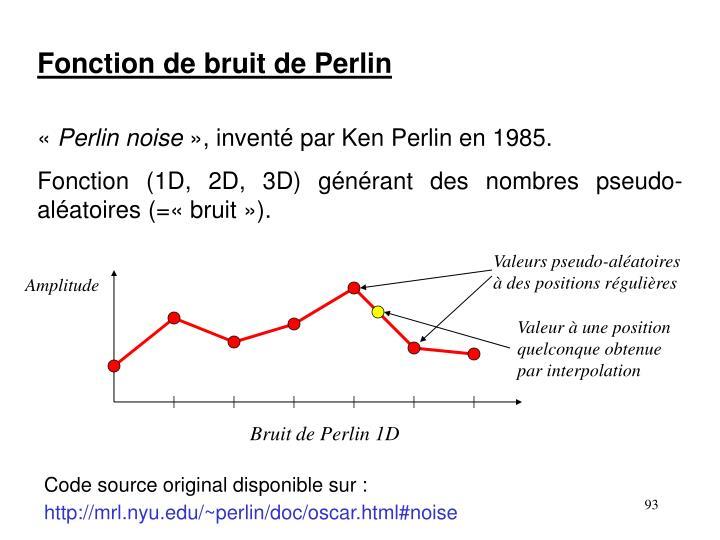 Fonction de bruit de Perlin