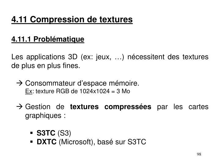 4.11 Compression de textures