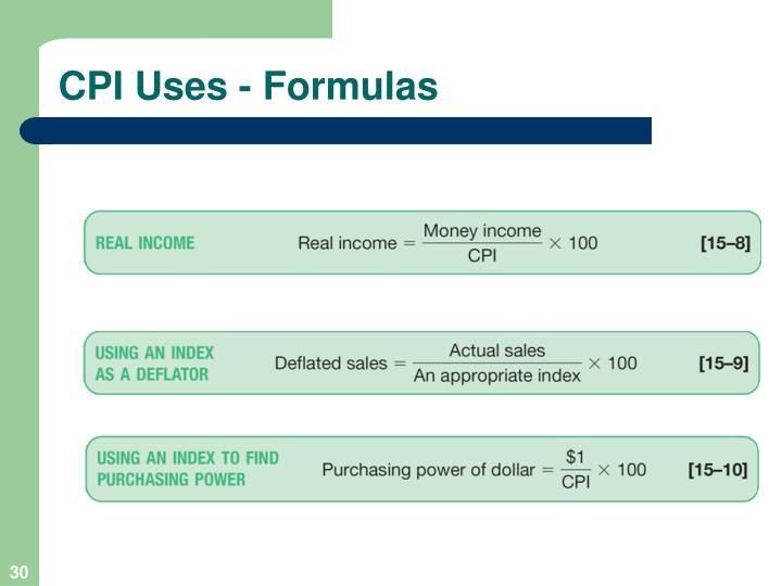 CPI Uses - Formulas