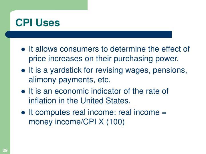 CPI Uses