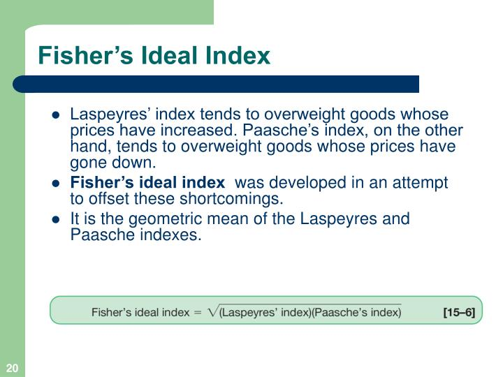 Fisher's Ideal Index