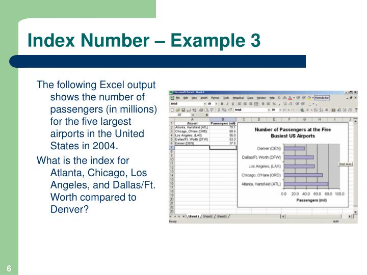 Index Number – Example 3