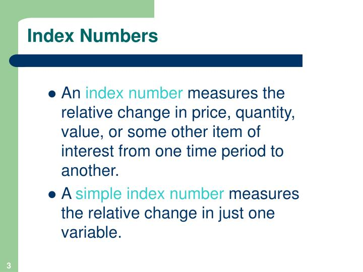 Index numbers1