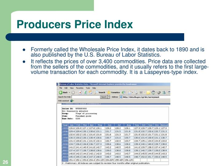 Producers Price Index