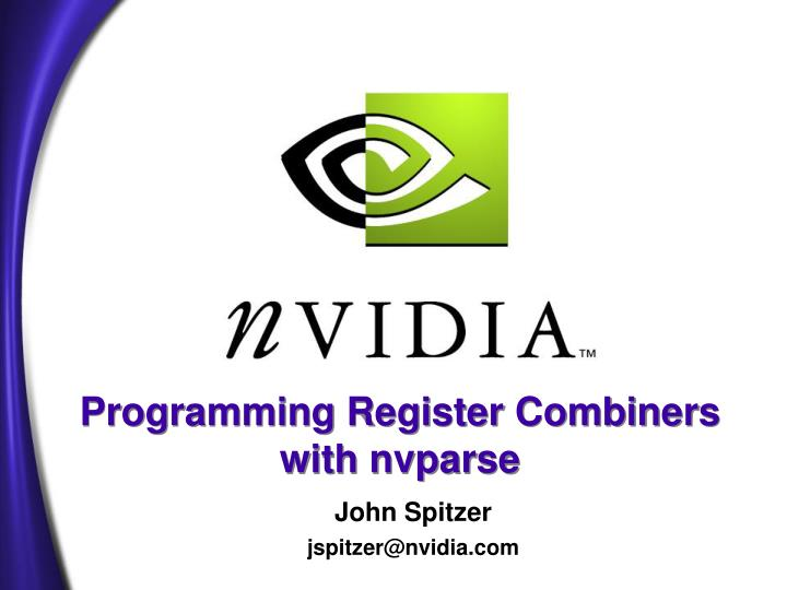 programming register combiners with nvparse