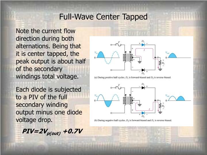 Full-Wave Center Tapped