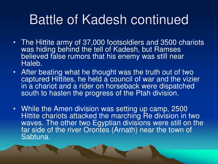 Battle of Kadesh continued
