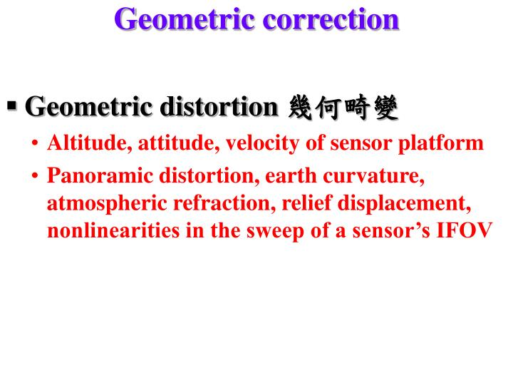 Geometric correction