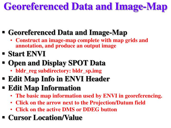 Georeferenced Data and Image-Map
