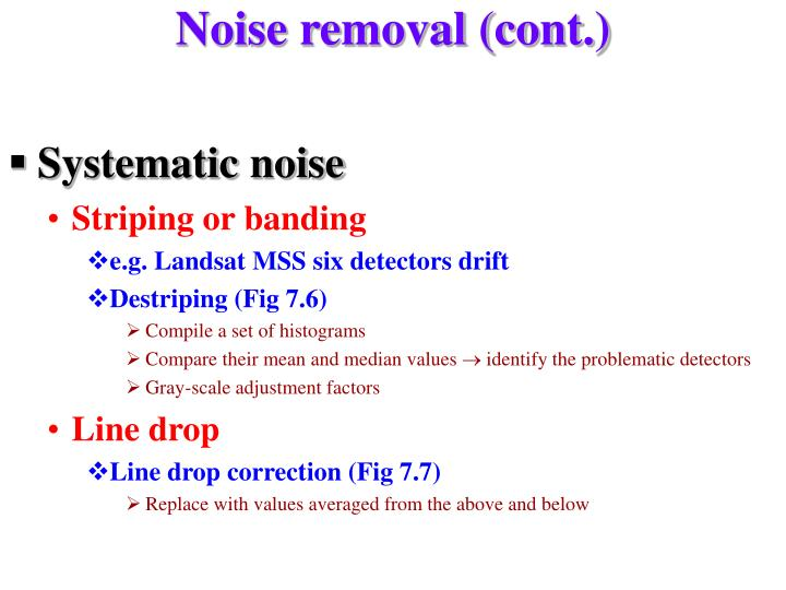 Noise removal (cont.)