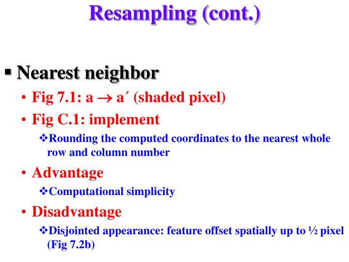 Resampling (cont.)