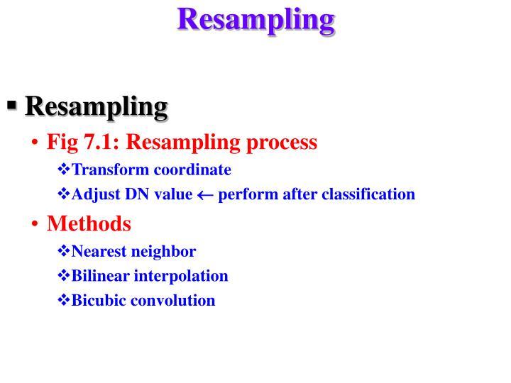 Resampling