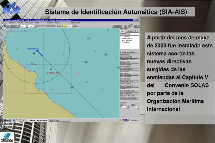 Sistema de Identificación Automática (SIA-AIS)
